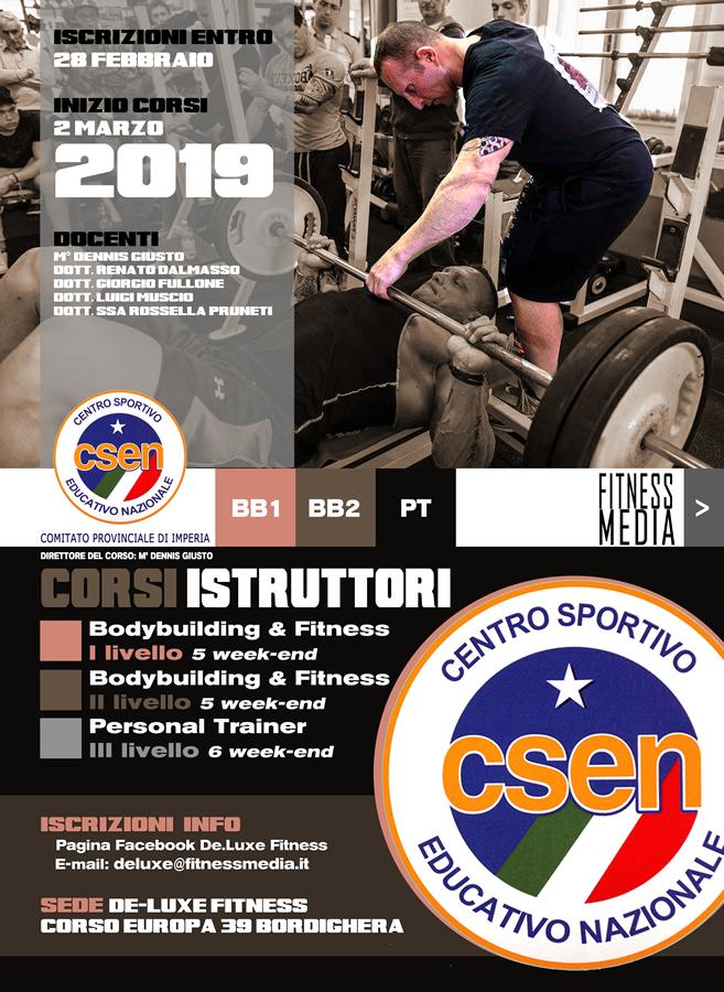 Istruttore Bodybuilding & Fitness 1° livello CSEN