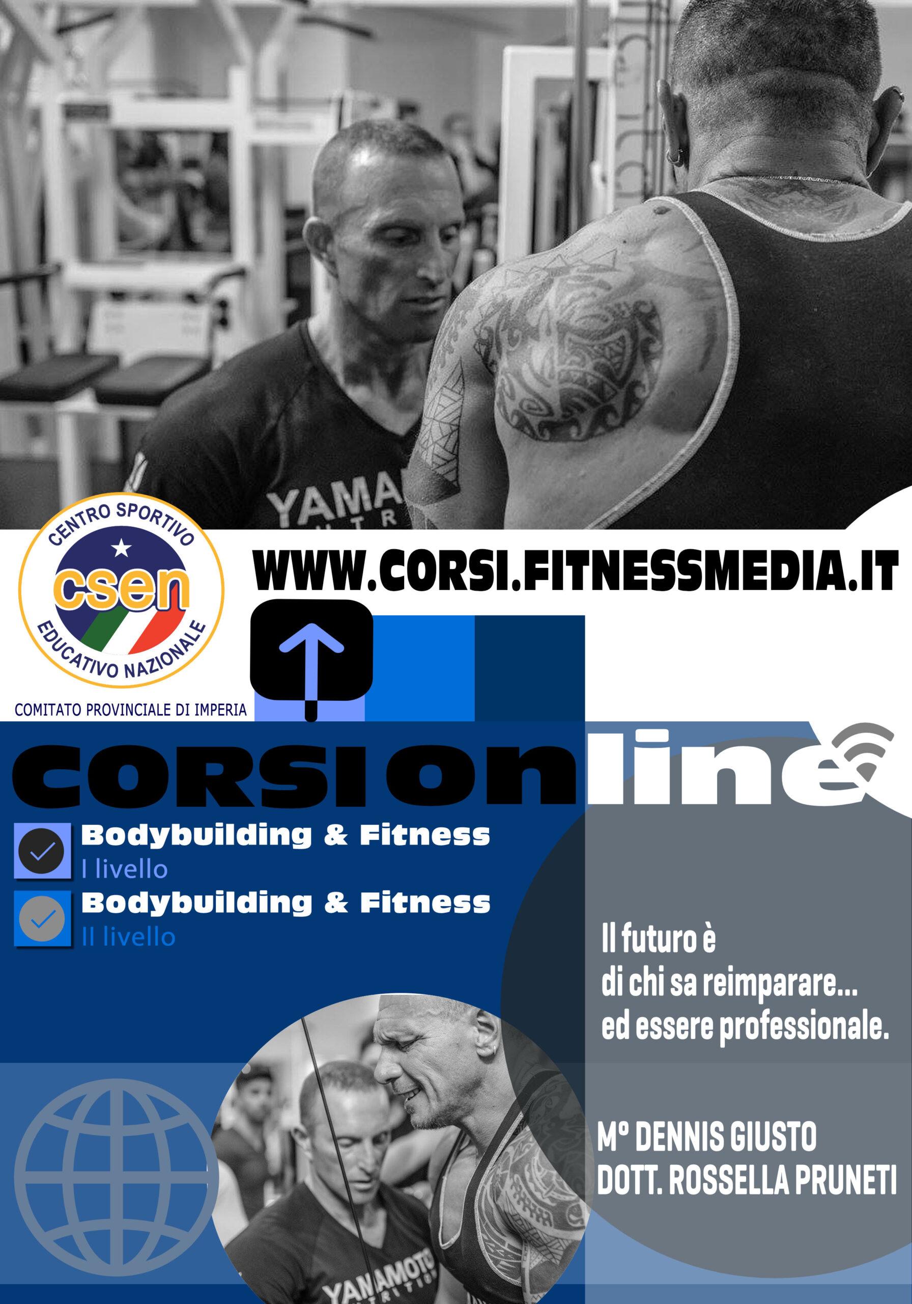 ONLINE – Istruttore Bodybuilding & Fitness 2° livello*** CSEN